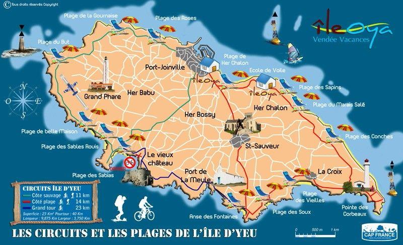 carte île d'yeu