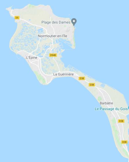 Carte de Noirmoutier